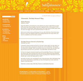 The Baby Planners Blog page