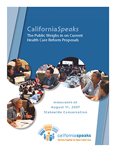 Cover of CaliforniaSpeaks Report