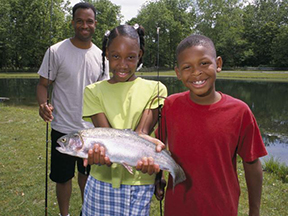 African-American Family Fishing