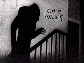 Grimy Walls? with shadow of Nosferatu