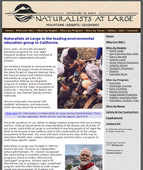 Naturalists At Large home page