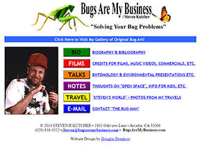 Bugs Are My Business home page