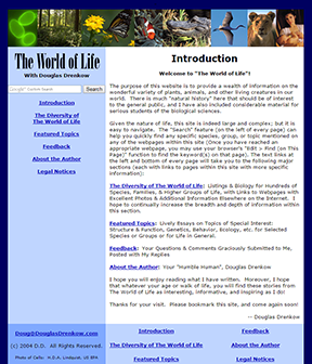 The World of Life home page