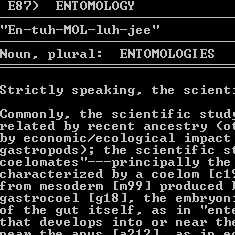 Dictionary of Entomology article
