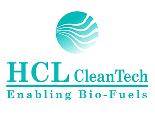 "Logo of HCL CleanTech, ""Enabling Biofuels"""