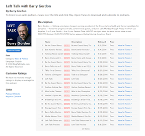 Listing of Podcasts in iTunes