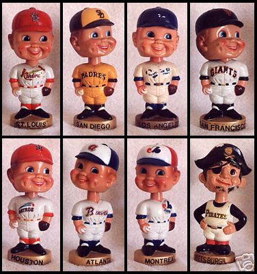 Collection of Eight Baseball Bobbleheads
