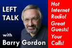 Banner Ad with Face for Left Talk with Barry Gordon