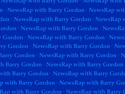 Backdrop for NewsRap with Barry Gordon