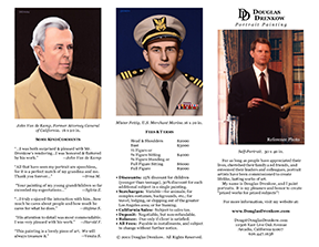 Three Portraits featured on front side of trifold