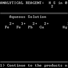 Qualitative Chemical Analysis screenshot
